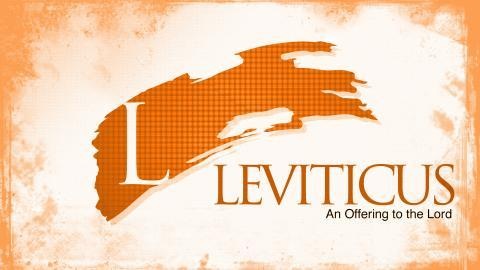 Leviticus - Class 3 - The Main Sacrifices in Leviticus